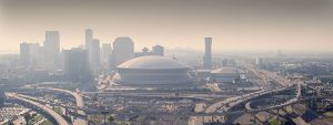 Aerial view of New Orleans downtown
