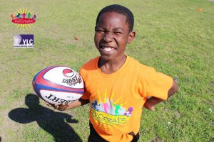 RECreate boy with football