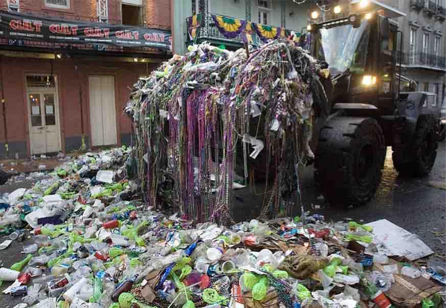 mardi gras waste